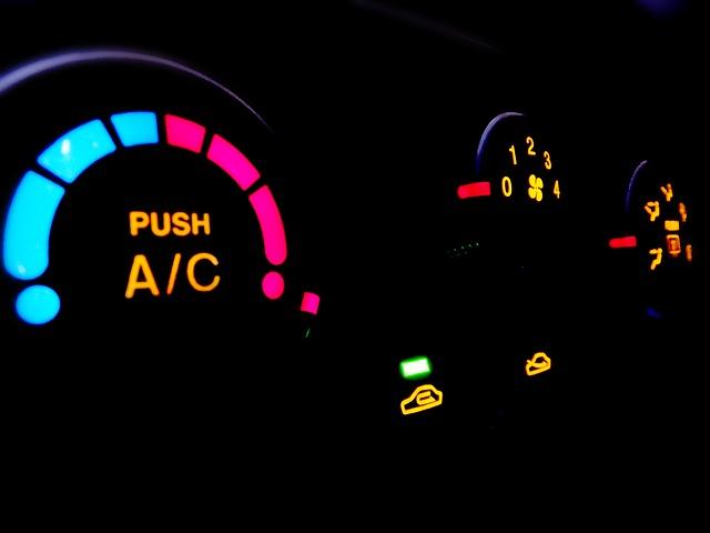 Klimatyzacja samochodowa - włącznik i regulator temperatury